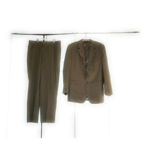 Jos.A.Bank Mens Suit 44 L Pants 39 L Tan Beige
